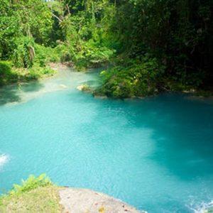 blue hole waterfalls Falmouth Jamaica